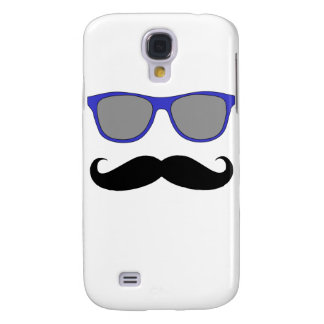Moustache and Blue Sunglasses Humour Samsung Galaxy S4 Covers