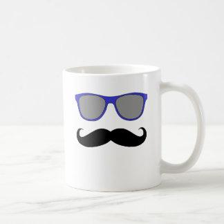 Moustache and Blue Sunglasses Humour Coffee Mug