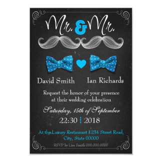 Moustache and bow for Mr and Mr Comunicado