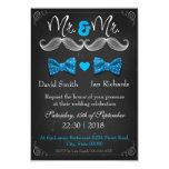 Moustache and bow for Mr and Mr 3.5x5 Paper Invitation Card