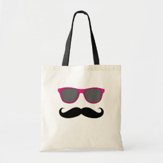 Moustache and Pink Sunglasses Humour Tote Bag