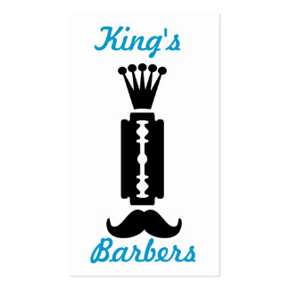 Moustache and razor themed business card