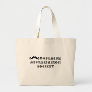 Moustache Appreciation Society Vintage Large Tote Bag
