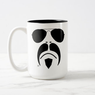 Moustache Aviator Style Sunglasses Mug