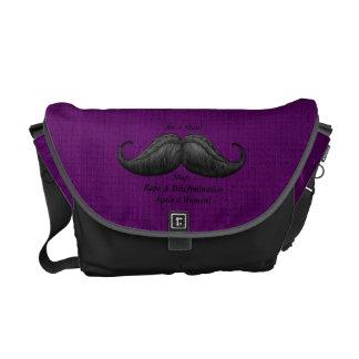 Moustache Bag, Stop Rape Against Women Messenger Bag