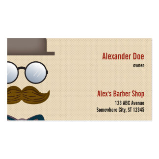 Moustache Barber Shop Business Card