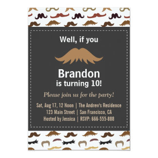 Moustache Birthday Party and Pattern Card