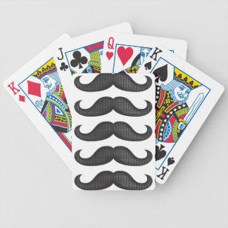 Moustache - Black Bicycle Poker Deck
