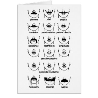 Moustache Chart Greeting Card