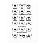 Moustache Chart Postcard