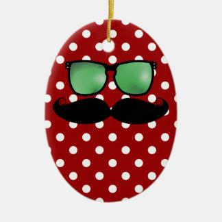 Moustache Christmas Ornament