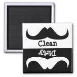 Moustache Clean dirty washing machine dishwasher Fridge Magnet