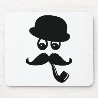 Moustache con ojos, pito y sombrero, tapetes de ratón