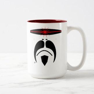 Moustache Cylon Style Visor Mug