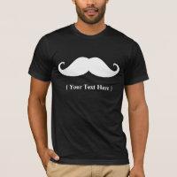 Moustache Design Templet T-Shirt