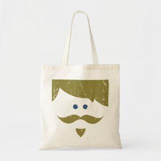 moustache - distressed tote bag