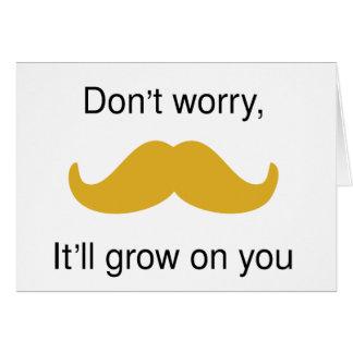 Moustache encouragement card