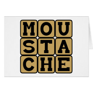 Moustache, Facial Hair Greeting Cards