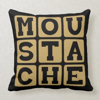 Moustache, Facial Hair Throw Pillows