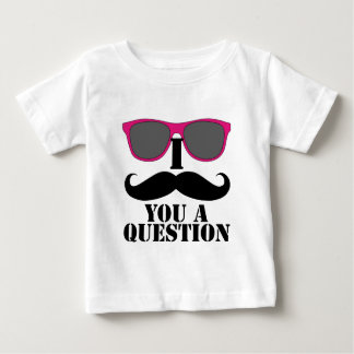 Moustache Humor with Pink Sunglasses Baby T-Shirt