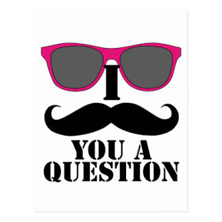 Moustache Humor with Pink Sunglasses Post Cards