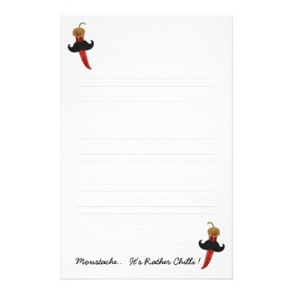 Moustache... It's Rather Chilli Lined Stationery