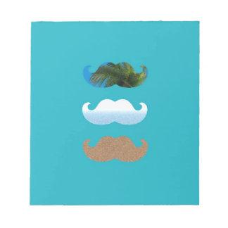 Moustache.. Life's A Beach! Notepad
