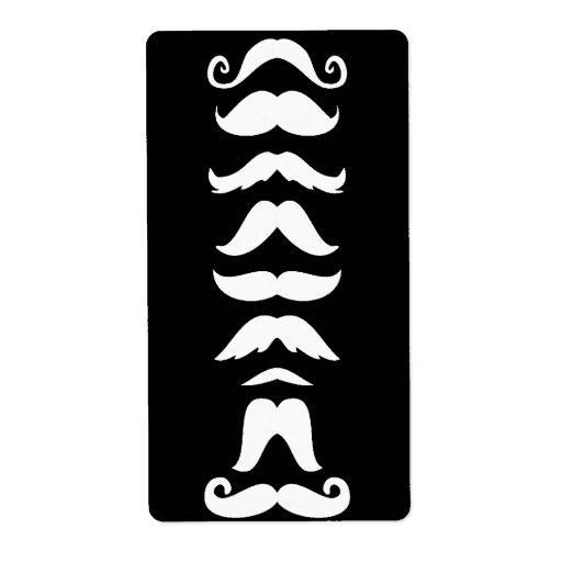 Moustache Line Up Label