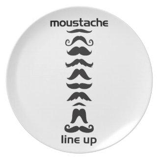 Moustache Line Up Plate