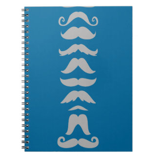 Moustache Line Up Spiral Note Books