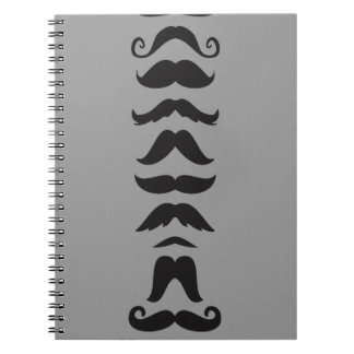 Moustache Line Up Spiral Notebook