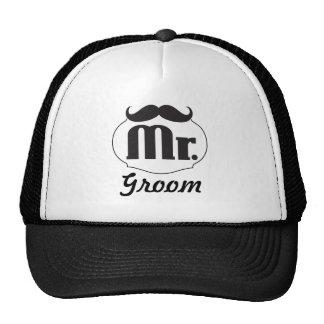 Moustache Lips Mr. Mrs. Just Married Trucker Hats