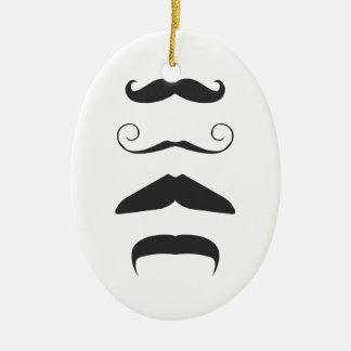 Moustache list - Choose your weapon!! Ceramic Ornament