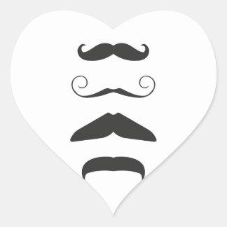 Moustache list - Choose your weapon!! Heart Sticker