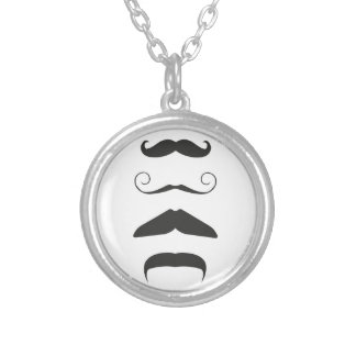 Moustache list - Choose your weapon!! Round Pendant Necklace