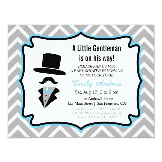 Moustache little gentleman baby boy shower invitation zazzle moustache little gentleman baby boy shower invitation filmwisefo
