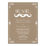 Moustache Love Vintage Paper Retro Gay Wedding Card