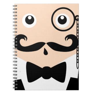 Moustache Monacle Man Note Book
