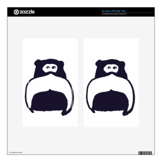 Moustache Monkey Decal For Kindle Fire