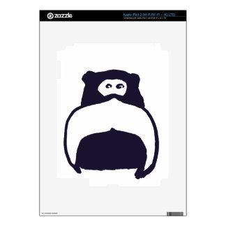Moustache Monkey Skin For iPad 3