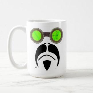 Moustache Motorcycle Style Goggles Mug