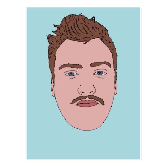 Moustache Mug Postcard