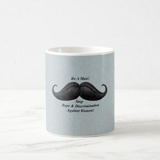 Moustache Mugs, Stop Rape Against Women Mugs