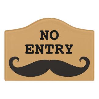 Moustache / Mustache / Schnurrbart + your ideas Door Sign