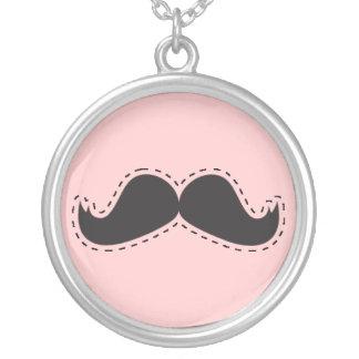 Moustache Nekclace Round Pendant Necklace