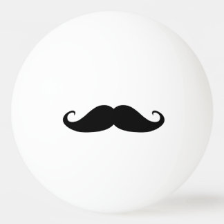 Moustache ping pong ball