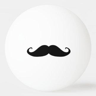 Moustache ping pong ball