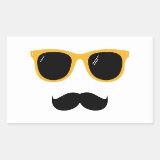 Moustache Rectangular Sticker