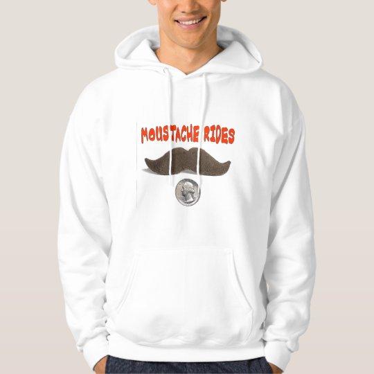 MOUSTACHE RIDES 25 CENTS HOODIE
