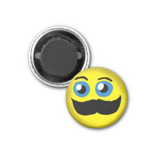 Moustache Smiley 3 Magnet